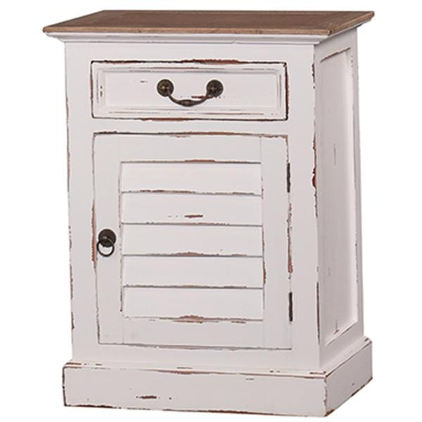 Bramble Bedroom Shutter Nightstand Cabinet Small 23496