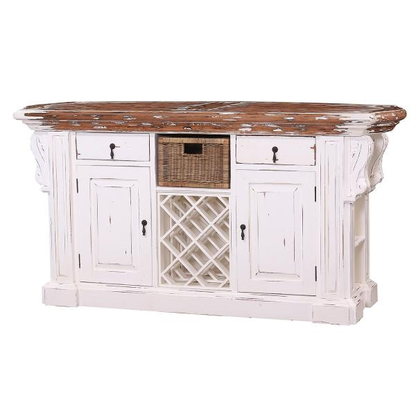 Bramble Roosevelt Kitchen Island With Corbels And Basket 24561