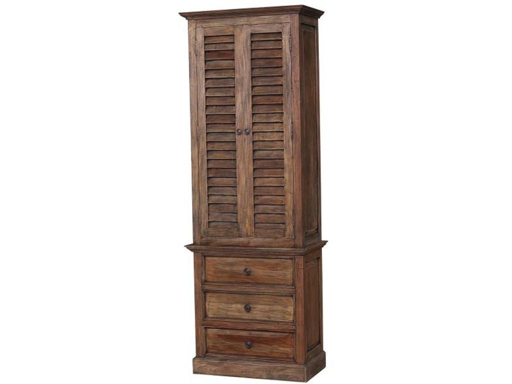 Bramble Bathroom Nantucket Tall Shutter Cabinet 25444