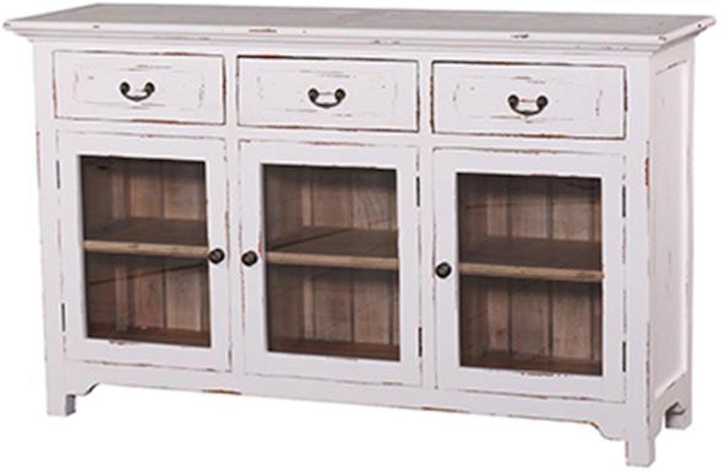 Bramble Dining Room Aries 3 Door Sideboard With Glass Door 25730