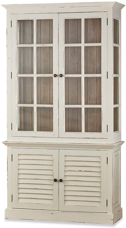Bramble Living Room 2 Door Cottage Cabinet With Glass 25743 Custom