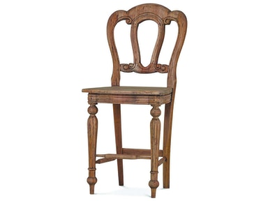 Bramble Napoleon Counter Stool With Back Carving 26712