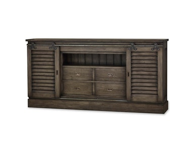 Bramble Sonoma Shutter Media Cabinet 7 Feet 26836