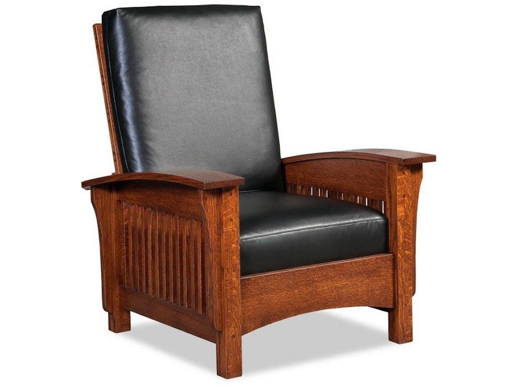Borkholder Furniture Living Room Bungalow Morris Chair Genesis Leather 13 2310lea Klingman 39 S