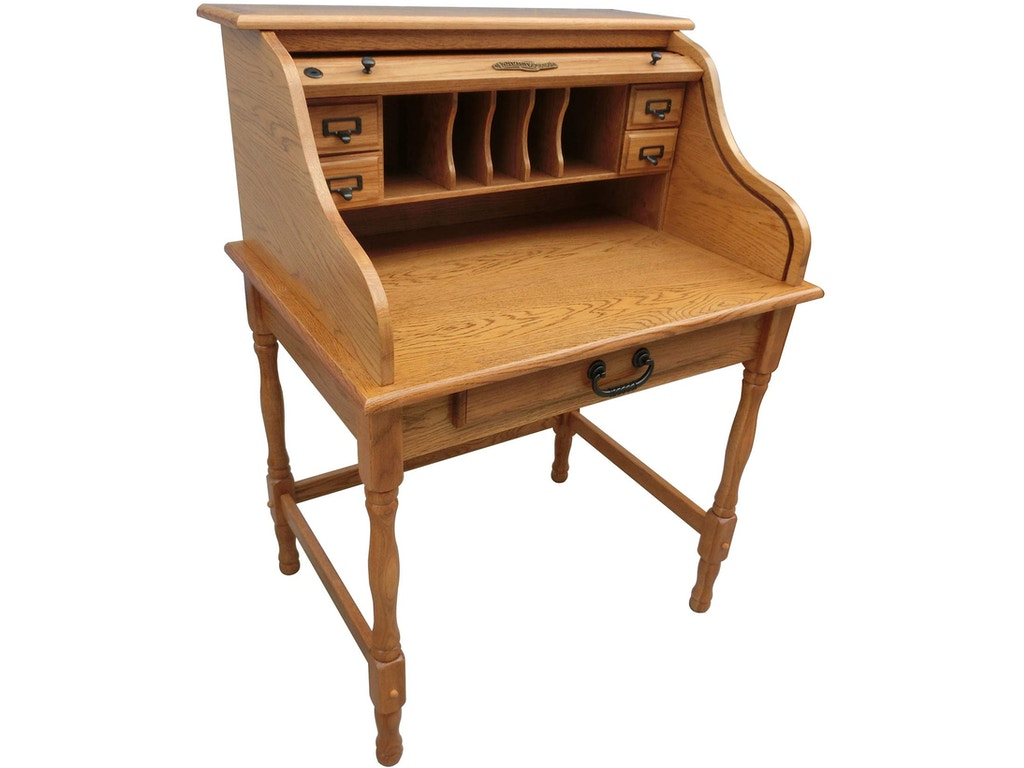 Tennessee Enterprises Home Office 32 Inches Mini Roll Top