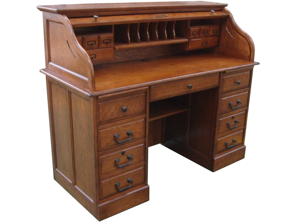 Tennessee Enterprises Home Office 54 Inches Roll Top Desk