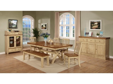 Tennessee Enterprises Dining Room Quinton 30 Inches Height Extension X Legs Tables