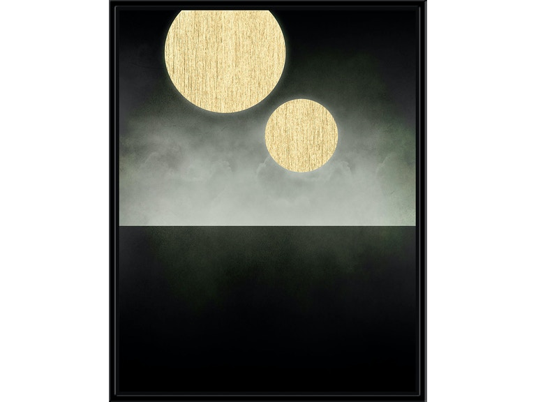 Surya Double Moon (Gold) - Wall Art IS904E-001