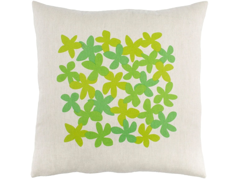 Surya Little Flower 18 x 18 x 4 Throw Pillow LE003-1818D