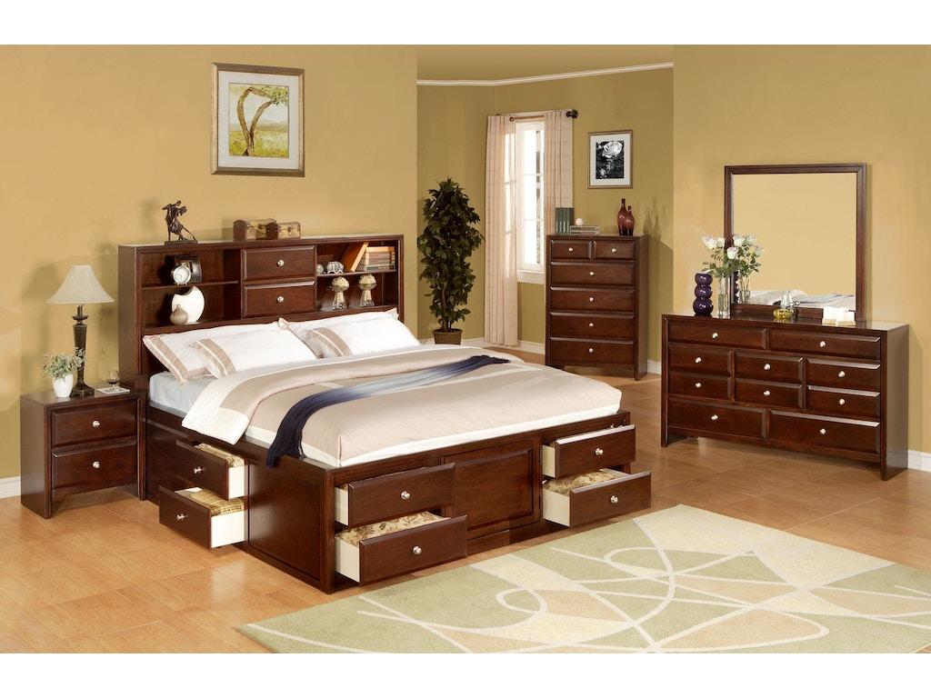 Lifestyle Bedroom Furniture Lifestyle Bedroom California King Storage Headboard 2 Drawers