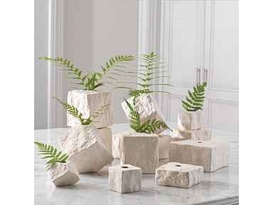 Global Views Rocky Block Vase-Tilted-Large 1.10000