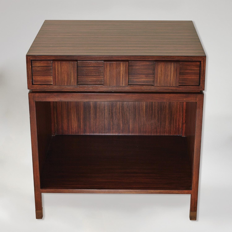 Global Views Bedroom Quad Block Bedside Table 2559 Ennis