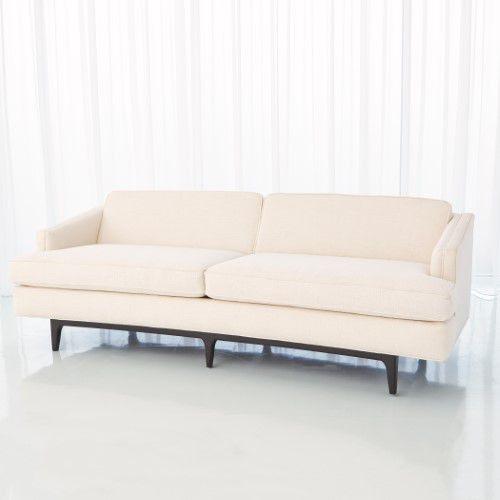 Global Views Living Room Crescent Sofa Avada Ivory 2613