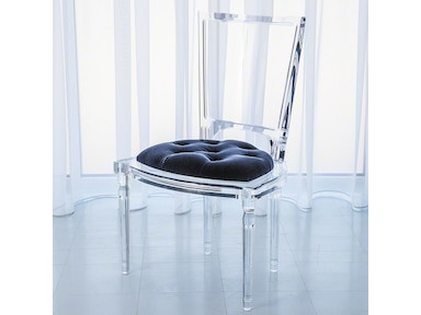 Global Views Marilyn Acrylic Side Chair-Admiral Blue 3.31165