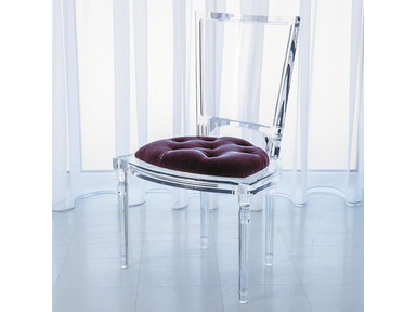 Global Views Marilyn Acrylic Side Chair-Sultana-Lavender 3.31171