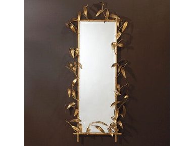 Global Views Bamboo Mirror With Gold Finish 8.80833