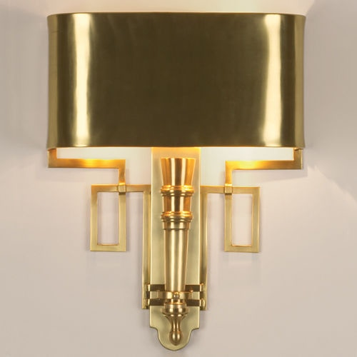 Global Views Lamps And Lighting Hardwired Antique Brass Torch Sconce  9.90651 HW   Stowers Furniture   San Antonio, TX