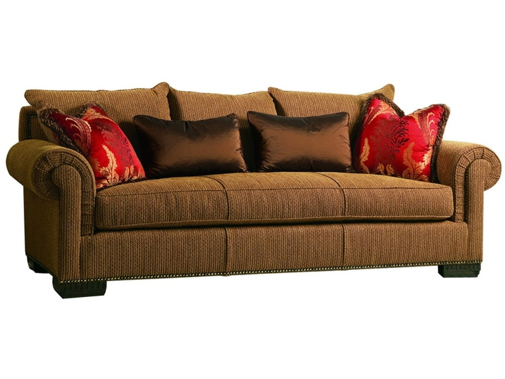 Marge carson living room bentley sofa by43s hickory for Carson chaise lounge