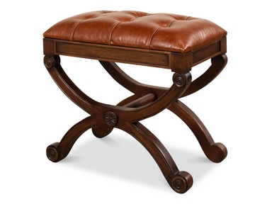Sarreid Empire Stool W/Leather 27249