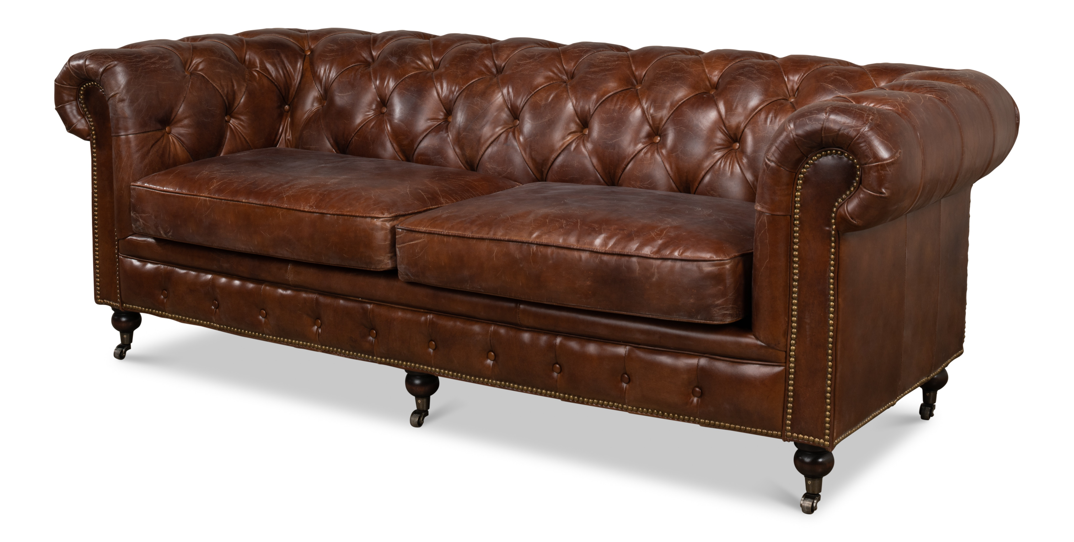 Sarreid Living Room Castered Chesterfield Sofa 29893 Mccurry