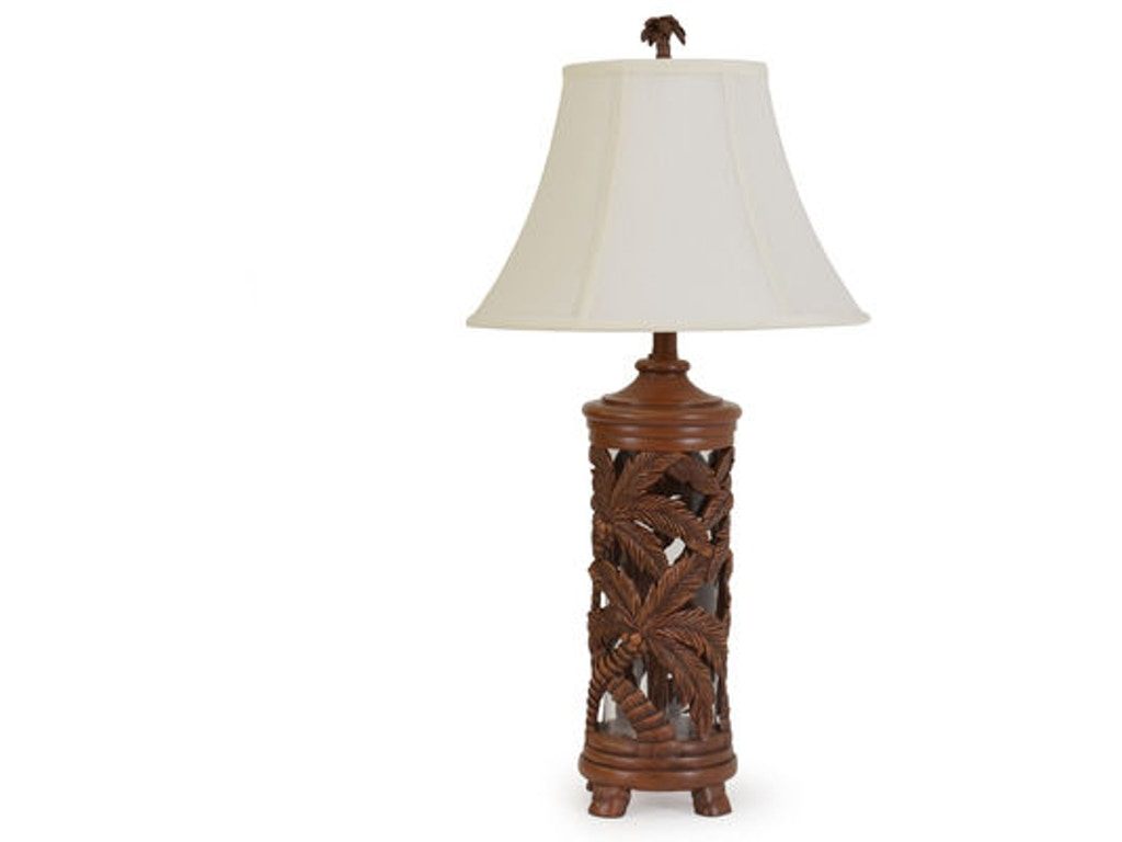 Palm springs rattan lamps and lighting palm tree for Key west style lighting