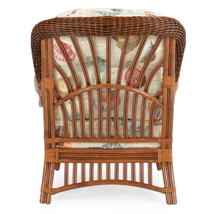 ... Palm Springs Rattan High Back Rattan Chair Pecan Glaze PALM5505PG ...