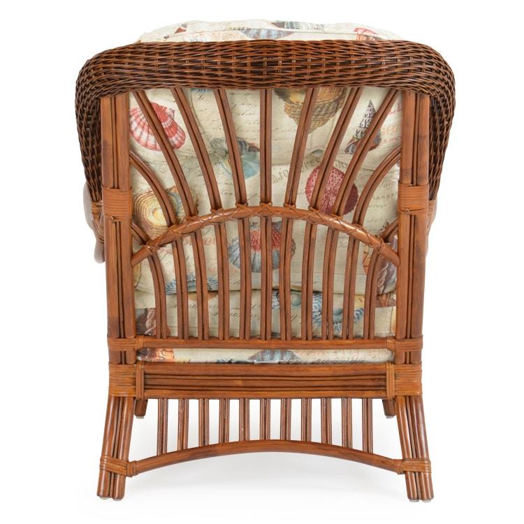 ... Watermark Living High Back Rattan Chair Pecan Glaze PALM5505PG ...