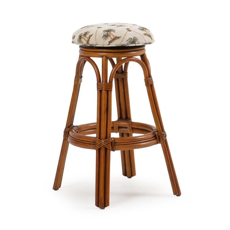 Palm Springs Rattan Bar and Game Room Backless Swivel Bar Stool PALM45 at Royal Furniture and Design  sc 1 st  Royal Furniture & Palm Springs Rattan Bar and Game Room Backless Swivel Bar Stool ... islam-shia.org