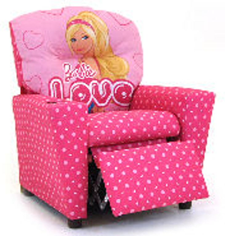 Kidz World Furniture Youth Barbie Recliner 1300-Recliner-Barbie ...
