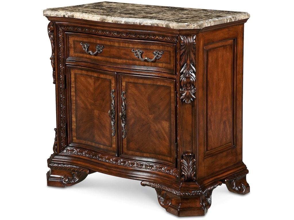Art furniture bedroom stone top door nightstand 143142 2606 stacy furniture grapevine allen for Granite top bedroom furniture