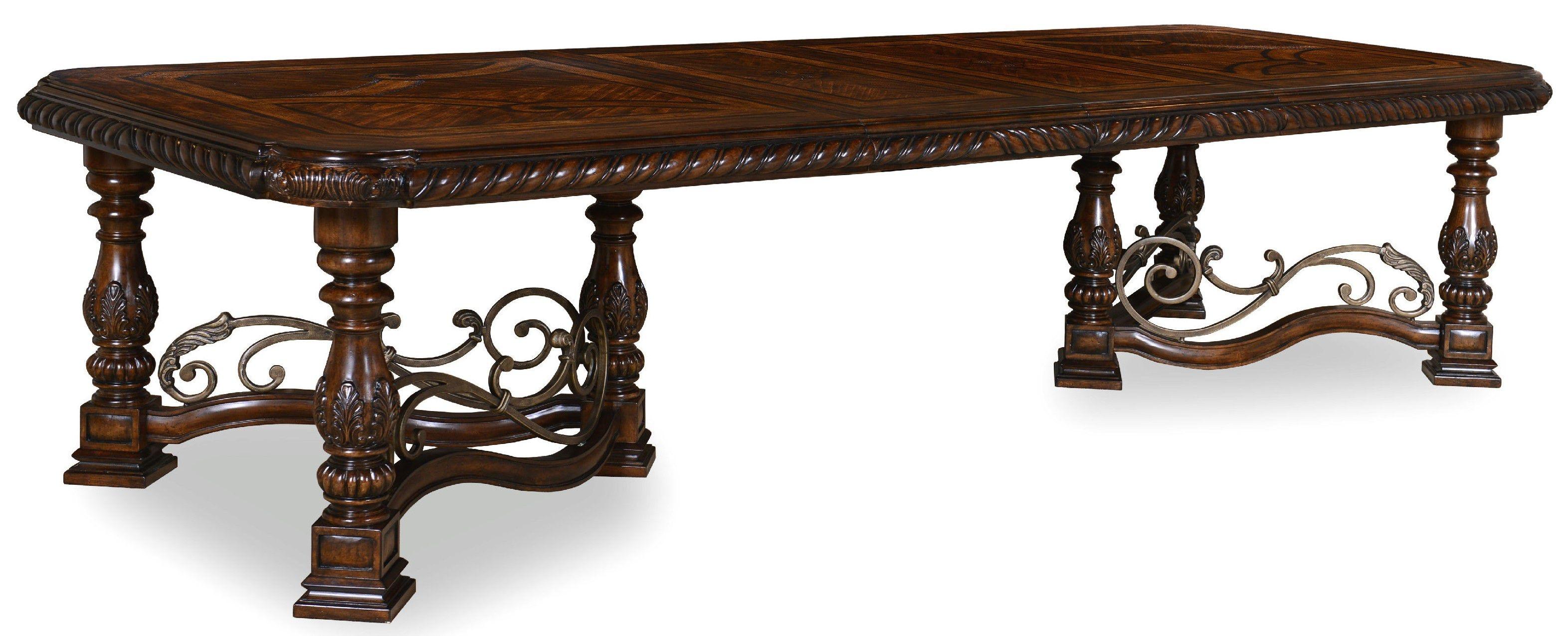Captivating ART Furniture Dining Room Trestle Dining Table Base 209221 2304BS   Malouf  Furniture Greenwood   Greenwood, MS