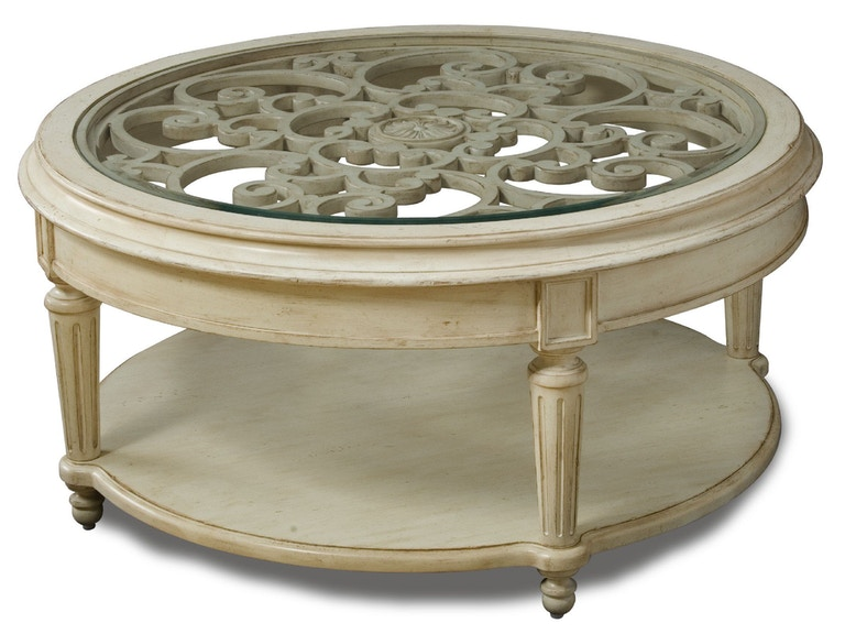 Art Furniture Living Room Round Cocktail Table 176302 2617 B F Myers Furniture