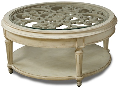 ART Furniture Living Room Round Cocktail Table- Linen