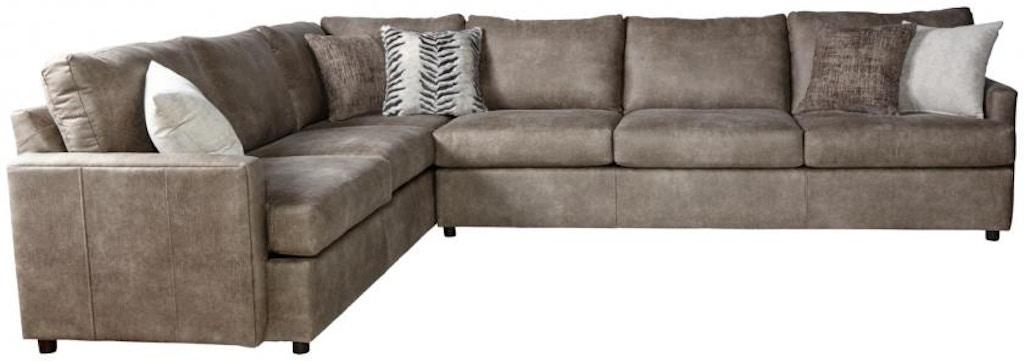 Hughes Furniture Living Room 10800 Sectional Arthur F