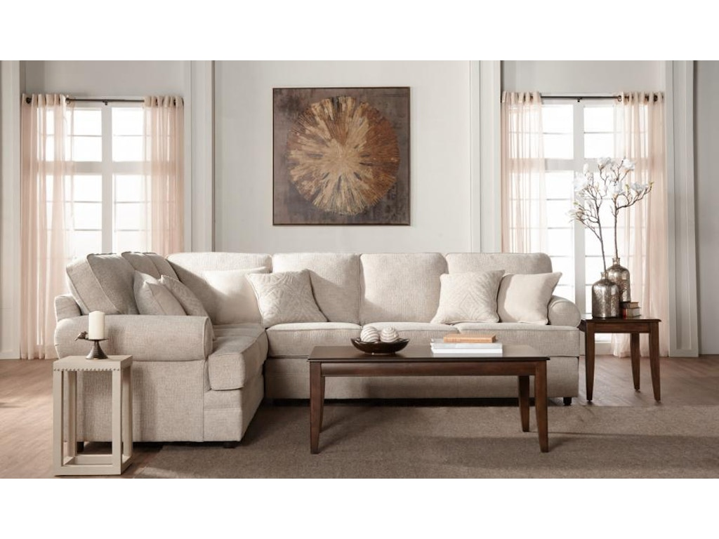 Hughes furniture living room 13100 sectional great deals for Great room sectional