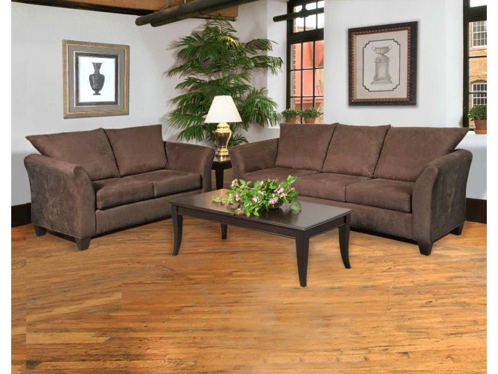 Hughes Furniture Living Room Loveseat 1000ls Carol House