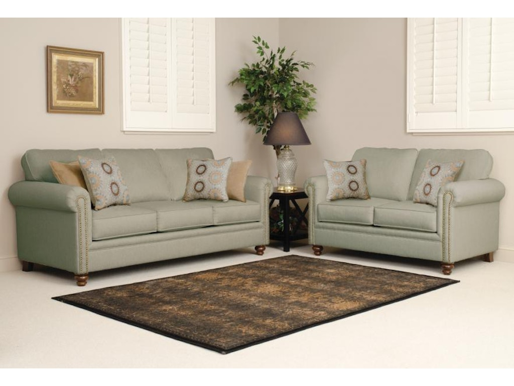Hughes Furniture Living Room Loveseat 3600ls Carol House Furniture Maryland Heights And