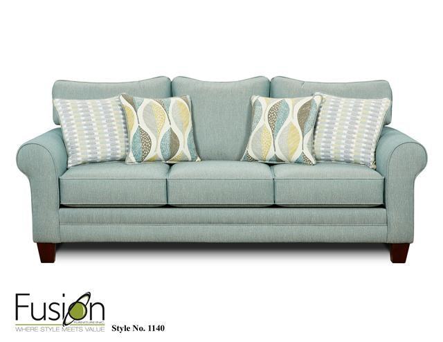 Fusion Living Room Sleeper Sofa 1144Decade Aqua At Priba Furniture And  Interiors