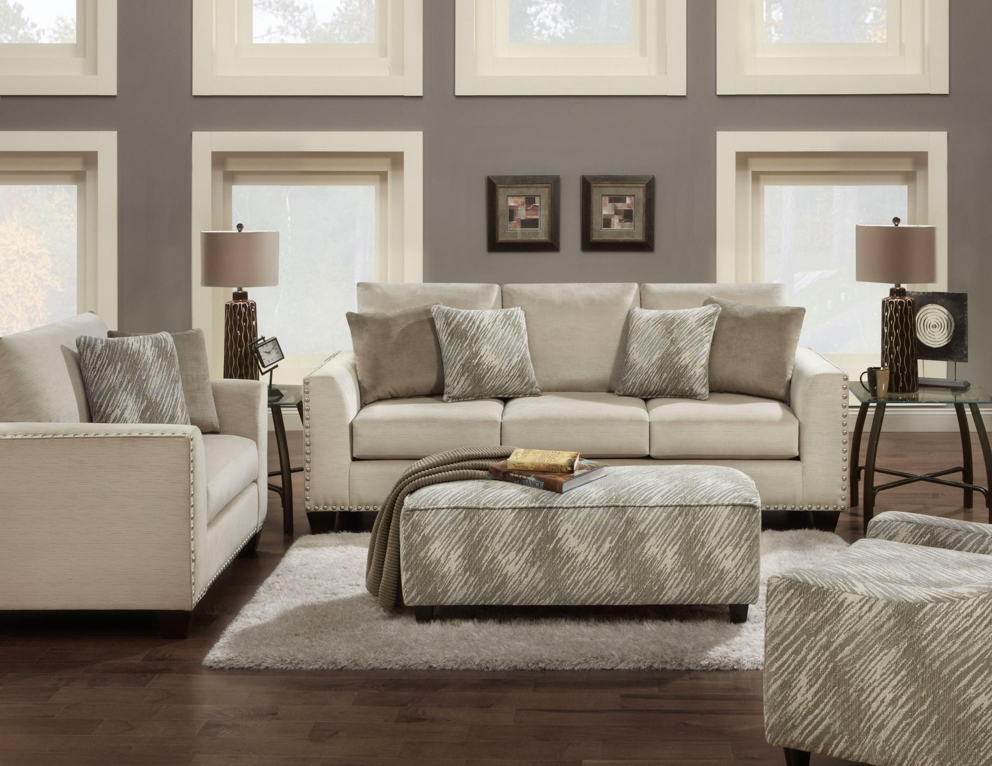 Merveilleux Fusion Living Room Chair And A 1/2 1462Empire Stone At Priba Furniture And  Interiors