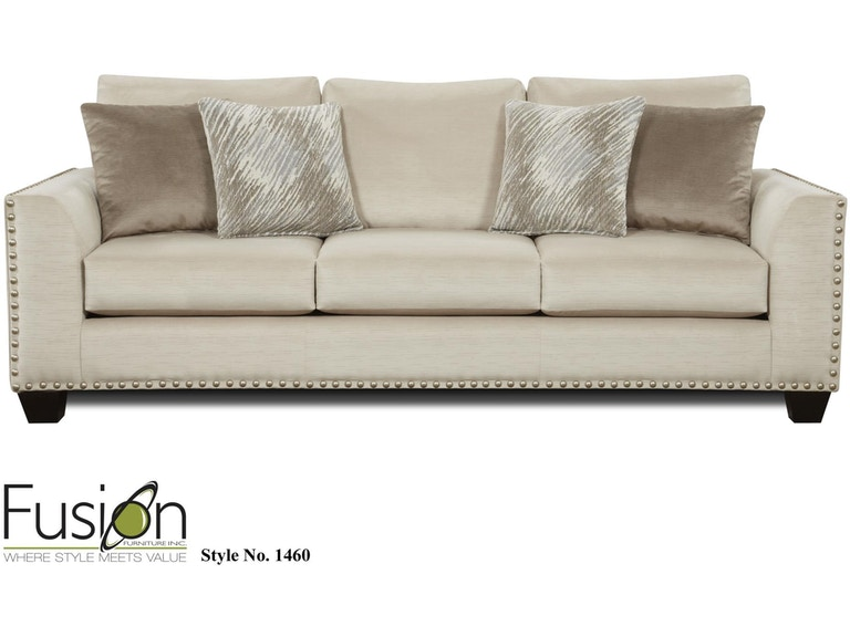Fusion Living Room Sofa 1460Empire Stone At Kaplans Furniture
