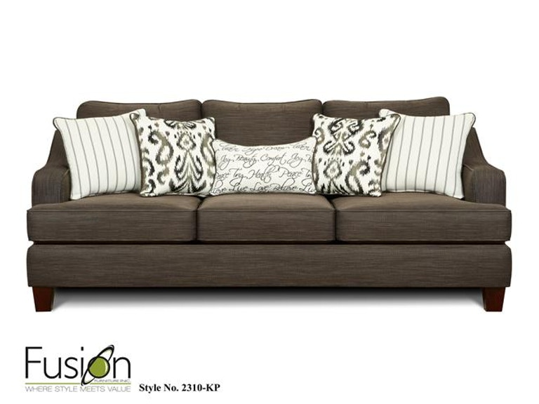 Fusion Sleeper Sofa 2314-KPOdin Pewter - Fusion Living Room Sleeper Sofa 2314-KPOdin Pewter - Kaplans