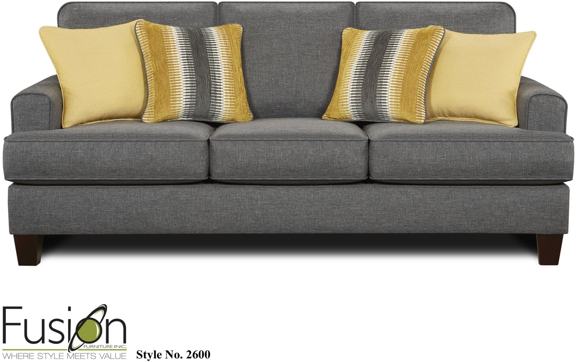 Living Room Sets Cleveland Ohio fusion living room sofa 2600maxwell gray - kaplans furniture