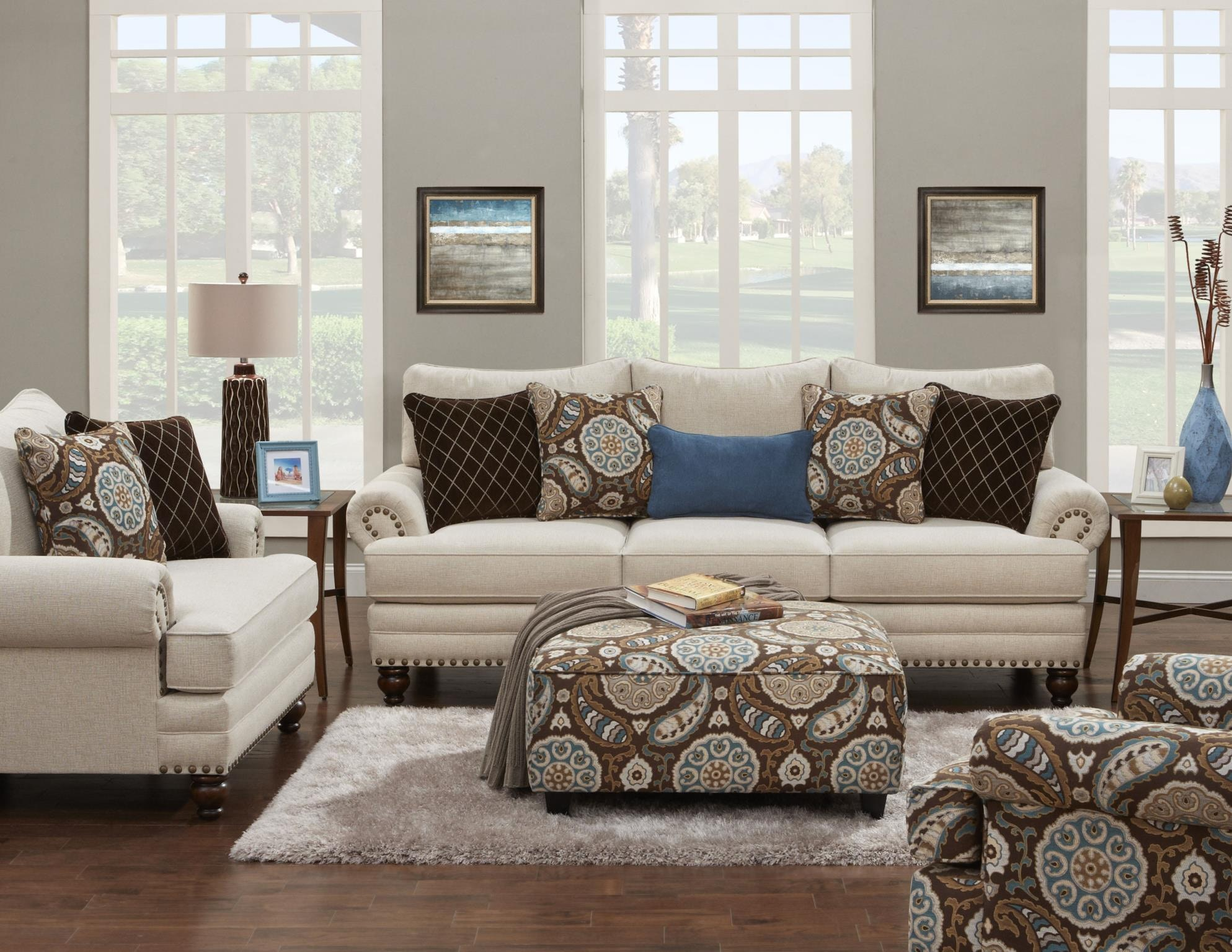 Living Room Sets Cleveland Ohio fusion living room the 2820-kp anna white linen - kaplans