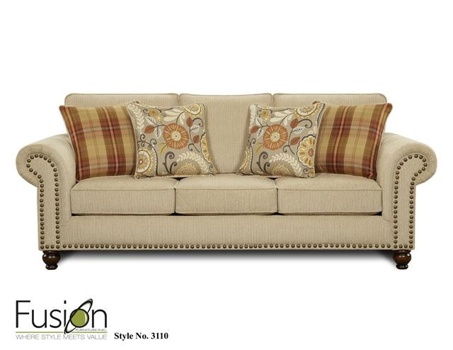Fusion Living Room Sleeper Sofa 3114Out West Linen At Priba Furniture And  Interiors