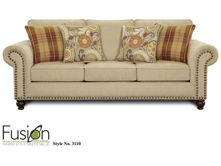 Fusion Sleeper Sofa 3114out West Linen