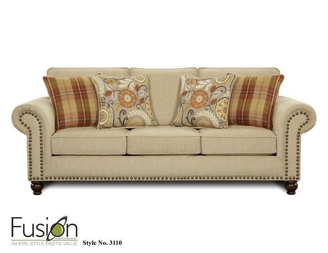 Superb Fusion Sofa 3110Out West Linen