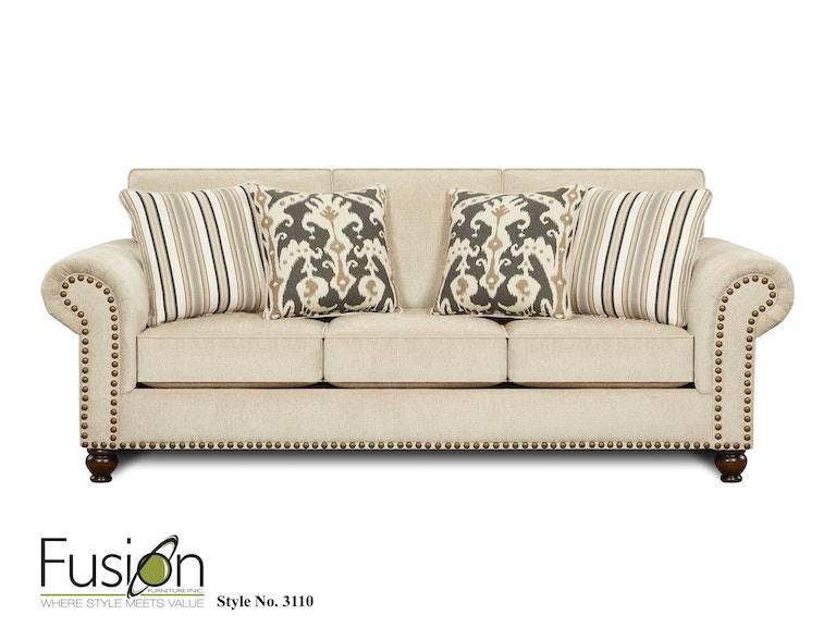 Sofa Sleeper - Fusion Living Room Sofa 3110Fairly Sand - Kaplans Furniture