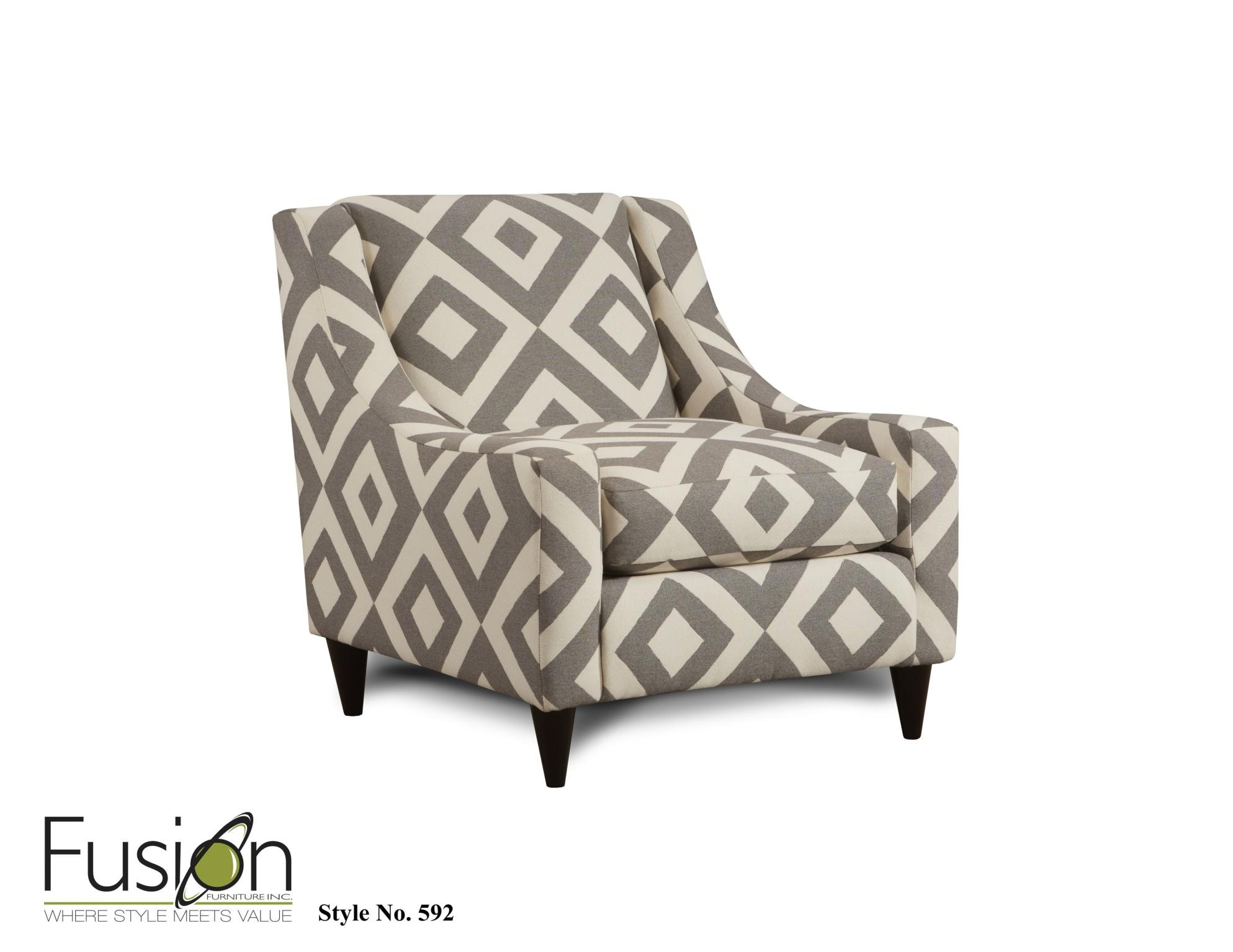 Fusion Living Room Chair 592Square Charcoal At Priba Furniture And Interiors
