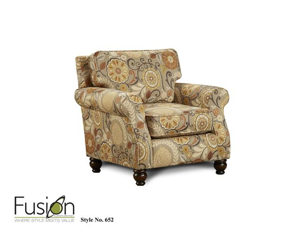 Fusion Living Room Chair 652Karina Espresso Sweats Furniture