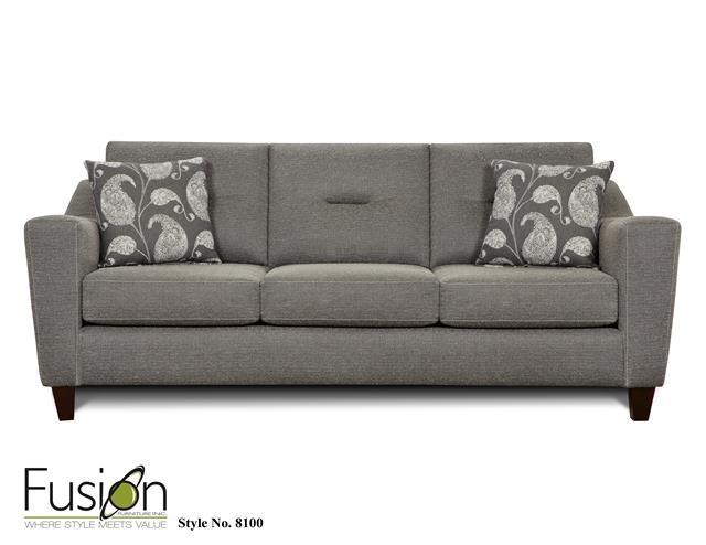 Fusion Living Room Sofa 8100Apex Cinder At Priba Furniture And Interiors